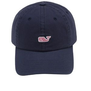 Vineyard Vines Mens Navy Whale Logo Baseball Hat